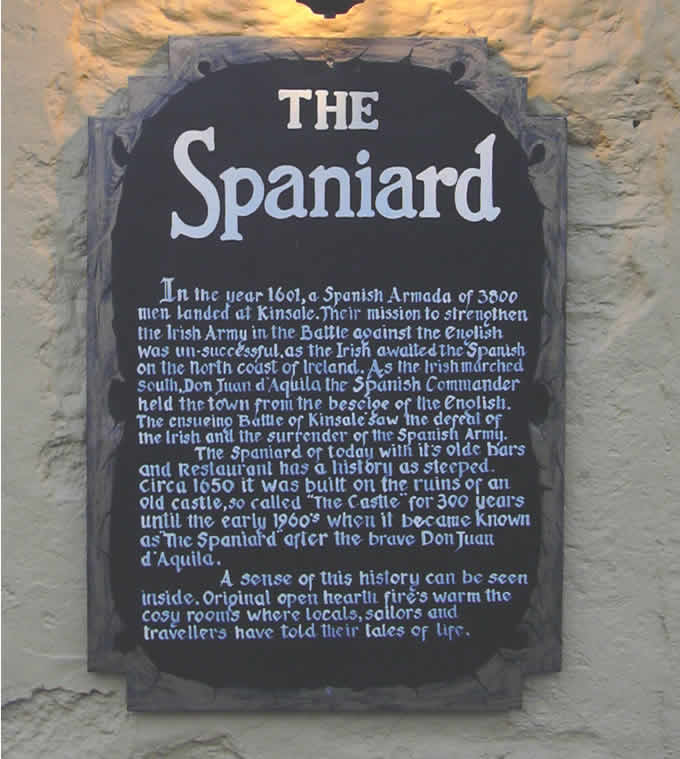 The Spaniard's History plaque.